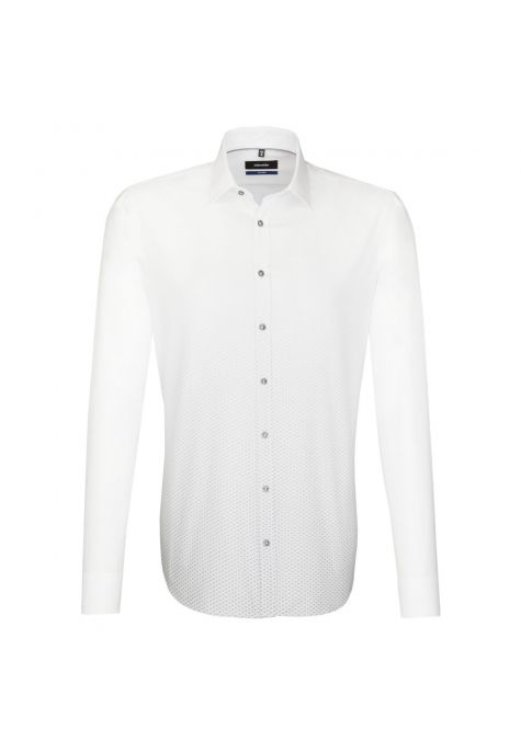 Chemise TAILORED Printed blanche et grise