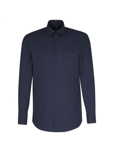Chemise droite Printed bleu manches extra-longues