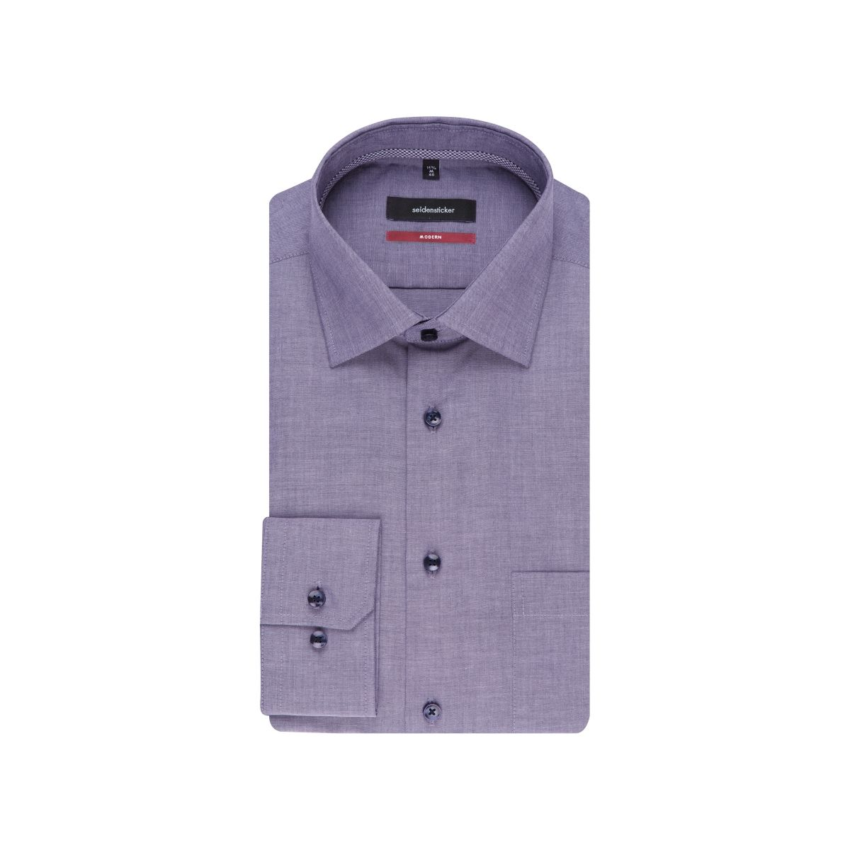 Chemise droite parme chambray