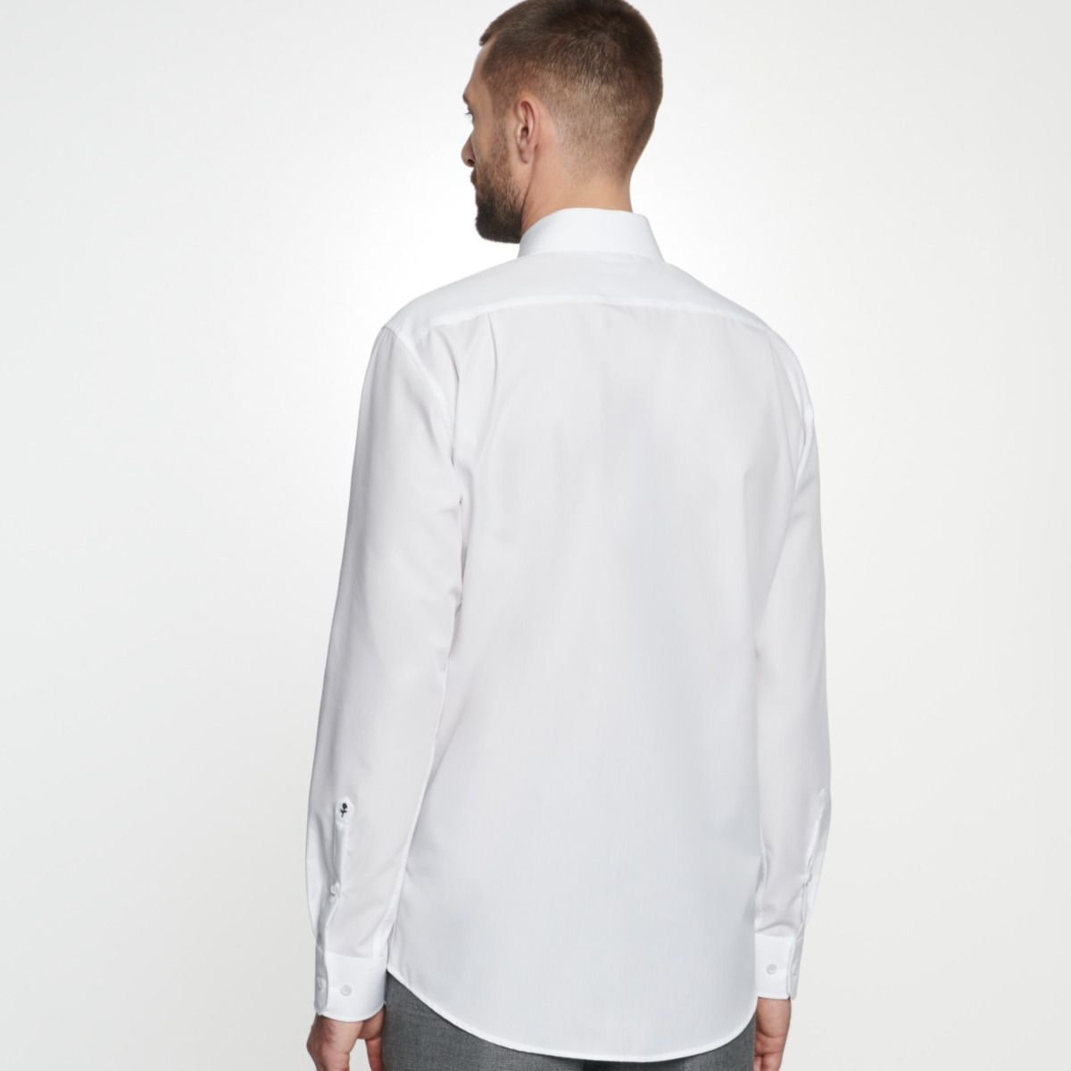 Chemise confort blanche col ville