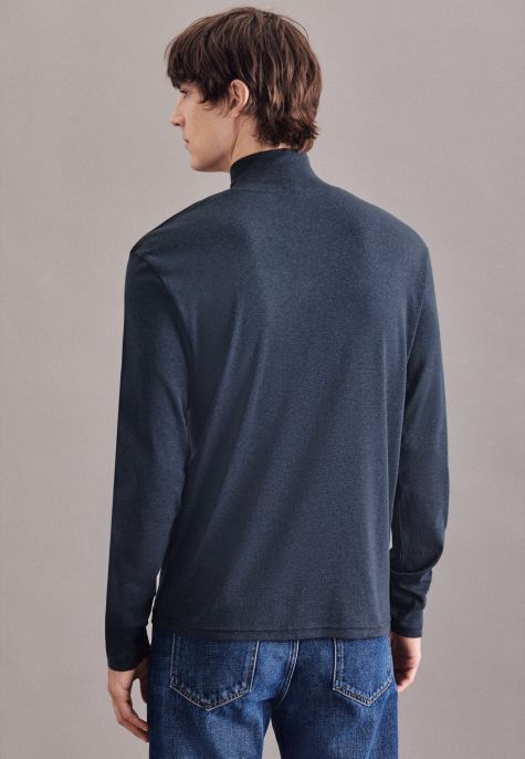 Pullover gris anthracite col montant