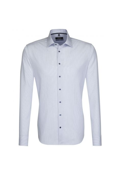 Chemise TAILORED rayures bleues col français