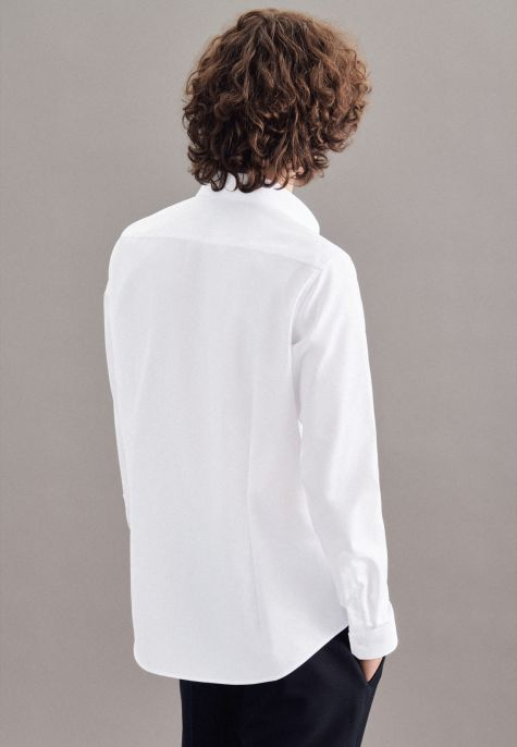 Chemise extra-slim blanche col ville