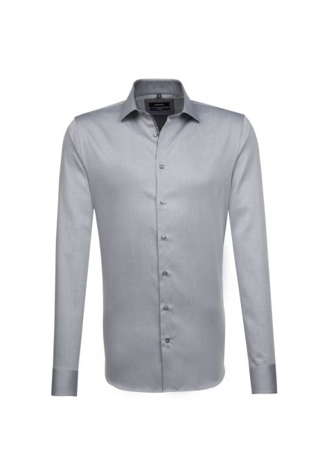 Chemise TAILORED Printed grise col français