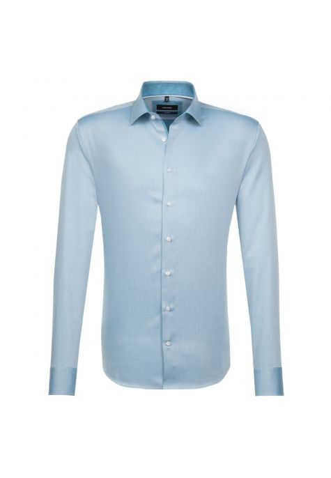 Chemise TAILORED Printed turquoise structuré