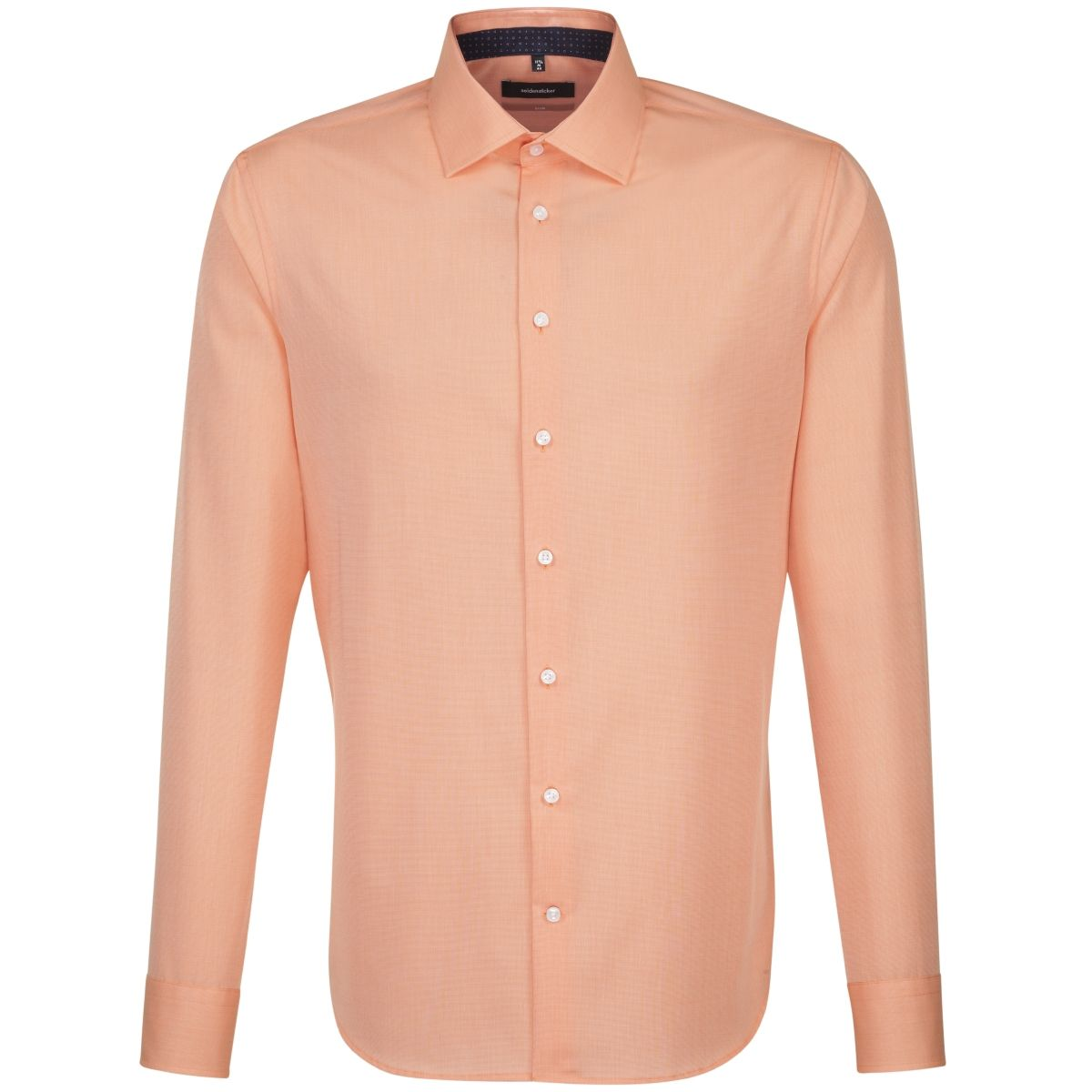 Chemise slim orange fil à fil